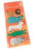 standing page marker index tabs sticky memo pack african animals zoo