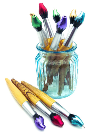 paint brush blue ballpoint pen twist on brushes uk kawaii cute pens stationery store