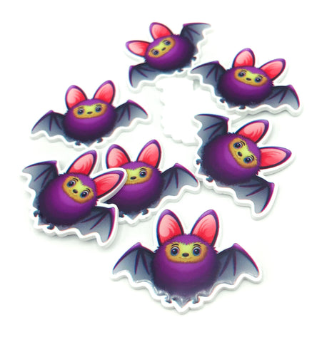 purple happy bat smiling purple bats kawaii cute uk craft supplies resin acrylic fb flatback flat back resins halloween crafts