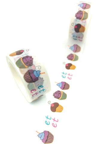 cupcake cup cake washi tape 5m long cute cakes uk stationery kawaii planner supplies