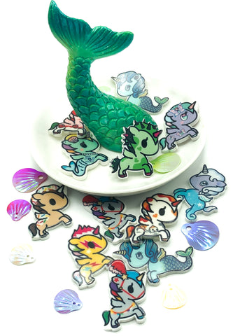 mermaid unicorn unicorns fb fbs planar acrylic flat backs cute kawaii embellishments