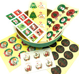 bundle of 6 festive christmas sticker sheets 53 stickers