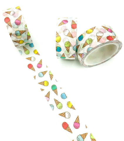 ice cream creams ice-cream washi tape 5m roll