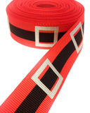 red and black santa belt grosgrain ribbon silver foil ribbons christmas