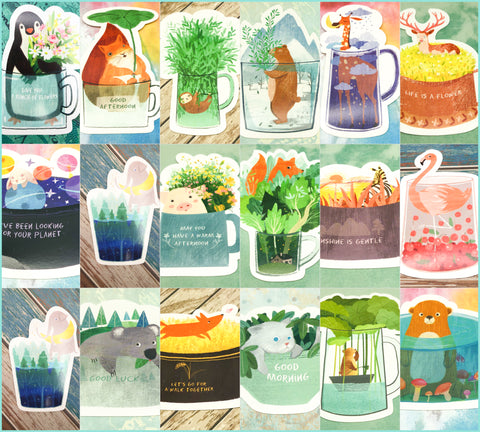 single postcard postcards kawaii animal individual post card cute cards shaped
