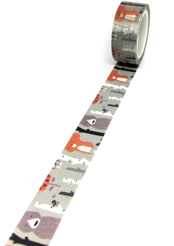kawaii cute bear bears washi tape 5m long tapes uk stationery woodland