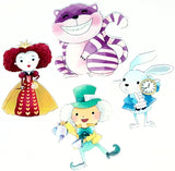 alice in wonderland acrylic fb flatback flat back mad hatter red queen hearts cheshire cat white rabbit fbs watercolour