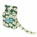 turquoise and olive green astrid floral boxed 7m washi tape uk cute craft supplies stationery tapes flower