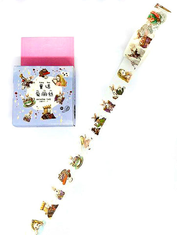 5m Alice in wonderland box boxed washi tape cute vintage style tapes planner