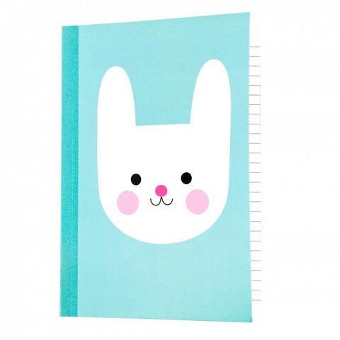 rex london bonnie bunny turquoise rabbit bunnies large a5 note book notebook cute kawaii uk gift gifts spring easter stationery