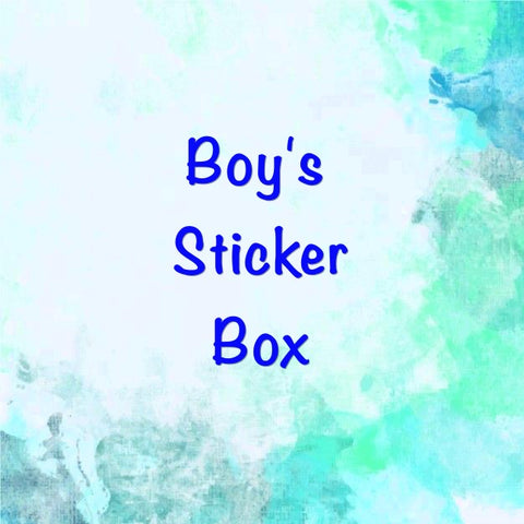 sticker box of boy boys boy's stickers stationery bundle kawaii uk boxes kids gift gifts dinosaurs superheroes vehicles  animals