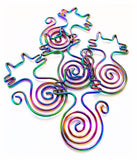 rainbow metal cats paper clips planner clip cat