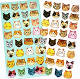 cat face faces clear gold foiled sticker pack cats foil planner stickers