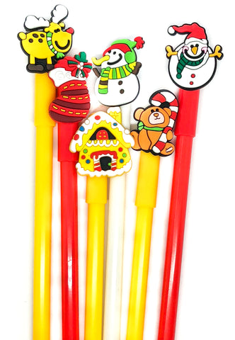 christmas topper festive very fine line black ink cute kawaii pen pens rudolph snowman stocking uk cute kawaii stationery