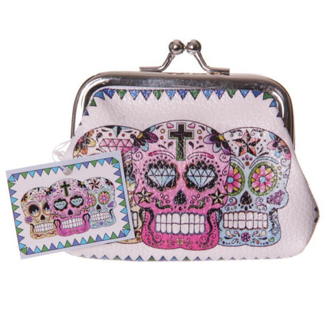 day of the dead skull skulls small click tic tac purse mini purses cute kawaii uk gift gifts