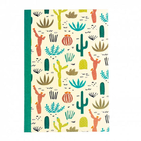 desert cacti cactus plant plants large a6 notebook note book uk cute kawaii stationery gift gifts lined pages paper