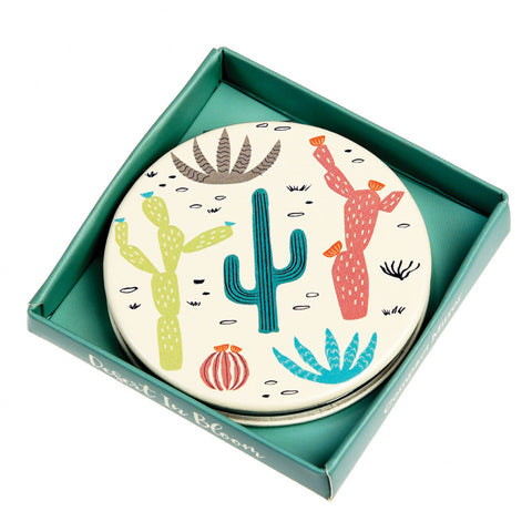 desert cacti cactus blooms pocket mirror handbag compact uk cute kawaii gift gifts