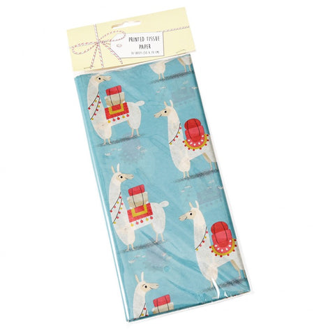Tissue Paper Pack of 10 Sheets- Lucky Llama