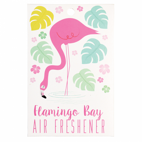 scented hanging air freshener cute kawaii gift gifts uk flamingo and palms sea breeze fresh ocean  scented flamingos