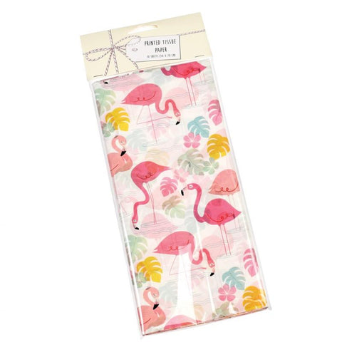 cute tissue paper pack of 10 sheets rex london uk packaging supplies kawaii flamingo bay pink