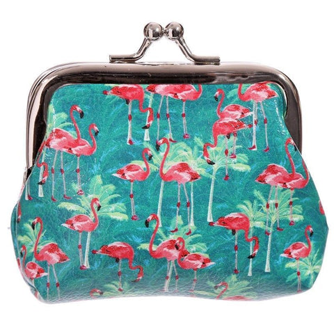 pink flamingo flamingos tic tac click shut mini small pvc purse purses coin silver top uk cute kawaii gifts turquoise