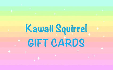 the kawaii squirrel gift card gifts voucher cards uk cute stationery craft supplies