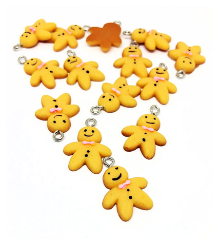 Gingerbread Men Resin Charm 22mm