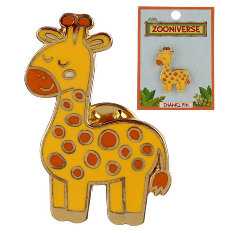 giraffe orange and yellow giraffes enamel pin brooch badge uk gift gifts cute kawaii pins brooches badges