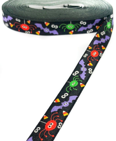 Black Halloween Elastic Ribbon 15mm