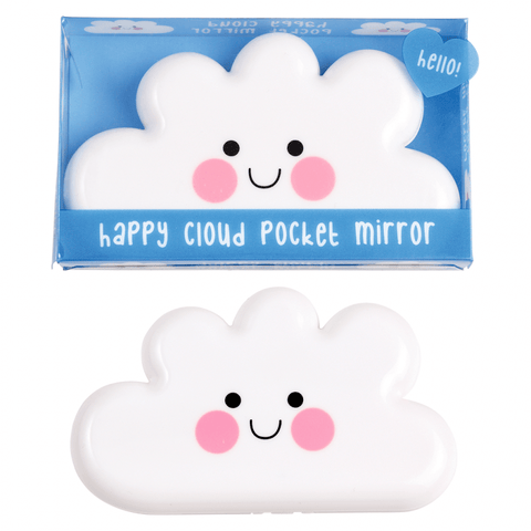 happy cloud kawaii pocket handbag mirror cute gift gifts uk clouds