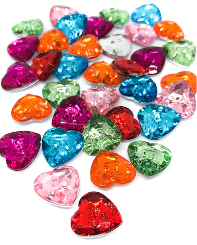 sparkly mirror backed acrylic buttons 12mm pink green cerise orange glitter button uk craft supplies
