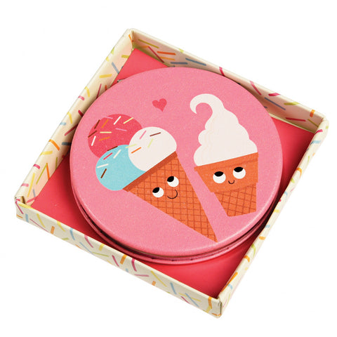 kawaii ice cream ice-creams cute pocket mirror compact pink mirrors gifts uk gift box