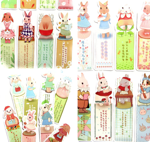 rabbit bunny cardboard card bookmark bookmarks kawaii stationery
