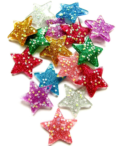 glitter large star charm pendant stars resin charms