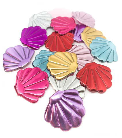 metallic shiny shell shells applique patch appliques foil fabric sew on embellishment large uk cute kawaii craft supplies