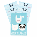 temporary tattoo tattoos rex london cute uk stationery and gifts for kids panda bunny and cat
