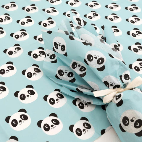 miko panda cute pandas kawaii tissue paper uk packaging supplies rex london turquiose blue wrap