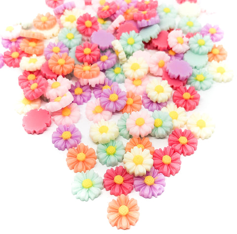 10mm daisy resin flower fb flatback flat backs daisies set of 15