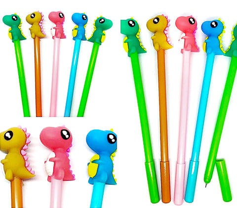 dino dinosaur topper kawaii black fine line pen uk pens stationery shop