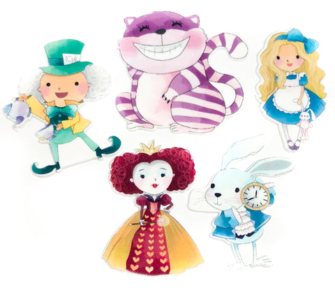 alice in wonderland acrylic fb flatback flat back mad hatter red queen hearts cheshire cat white rabbit fbs