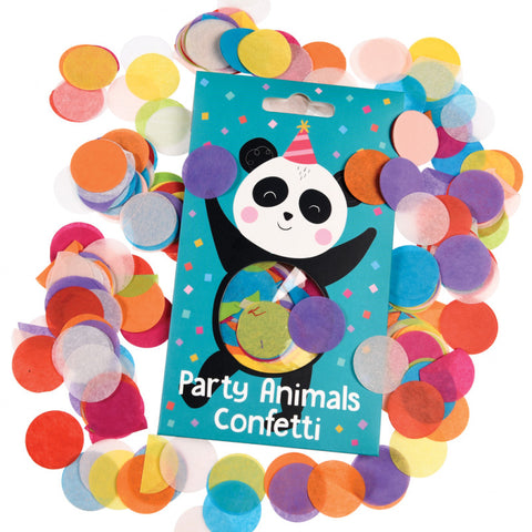 circle confetti tissue paper multicoloured party animals cards pack uk packaging materials kawaii rex london