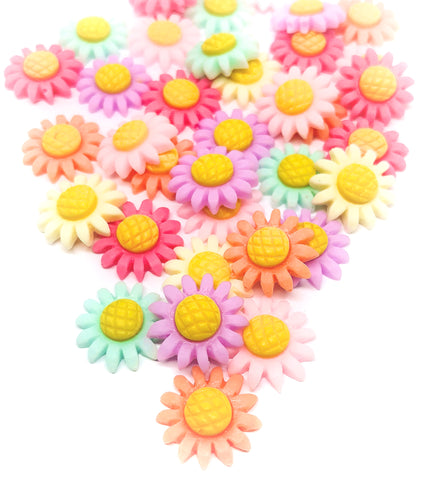 resin daisy daisies flower flatbacks 13mm flowers fbs