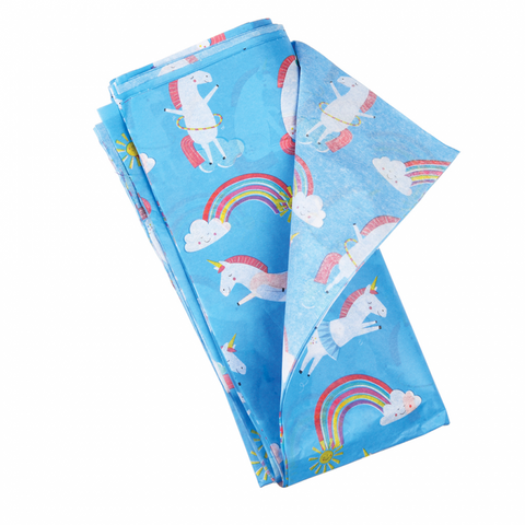 magical unicorns and rainbows unicorn kawaii tissue paper uk packaging supplies rex london blue wrap