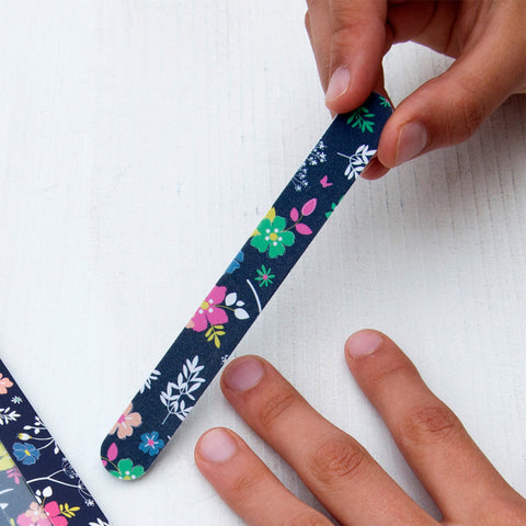 floral nail file files and toe separators set pack gift gifts uk cute kawaii flowers nails accessories