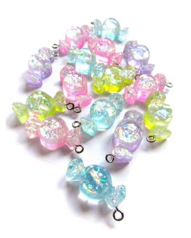 sweet charm charms glitter resin sparkly sweets