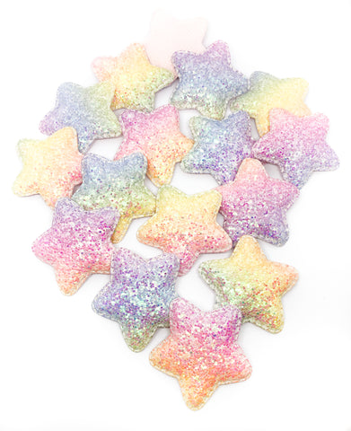 Glittery Large Star AB Pastel Glitter Patch 50mm