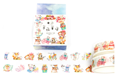 super cute baby animals 5m boxed washi tape roll deer cats rabbits