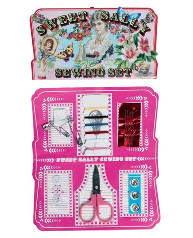 uk cute kawaii craft supplies sweet sally sewing kit mini gift gifts card vintage set crafting rex london folding pack needle needles scissors pins