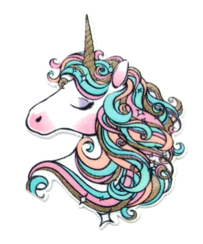 swirly unicorn pastel rainbow acrylic fb flat back unicorns
