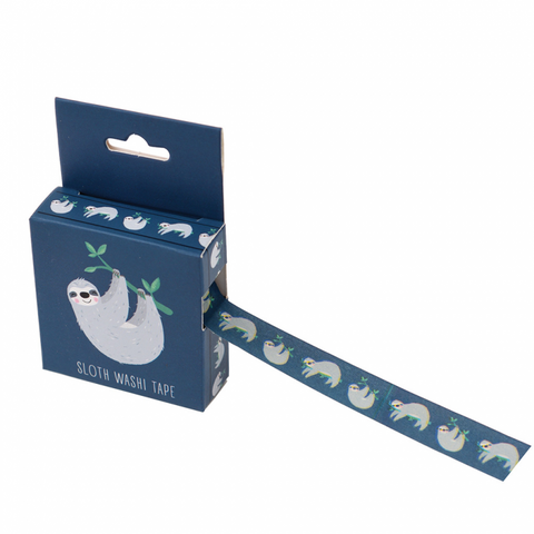 cute sydney the sloth boxed 7m washi tape tapes kawaii stationery uk rex london blue sloths